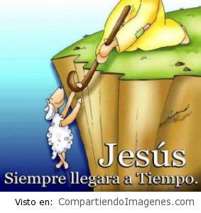 Jesús siempre llega a tiempo