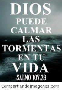 Solo Dios puede calmar las tormentas