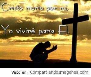 Cristo murió por mi, yo viviré por el.