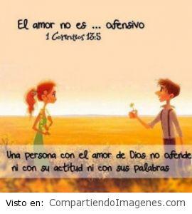 El amor no es ofensivo…