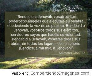Postal del Salmo 103:20-22