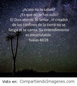 Postal de Isaias 40:28