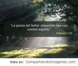 Postal de Filemón 1:25