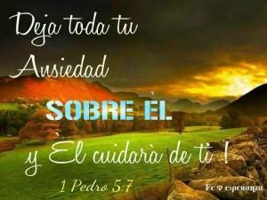 Deja toda tu ansiedad sobre el Señor