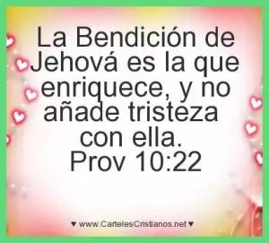 La bendicion del Señor es la que enriquece…