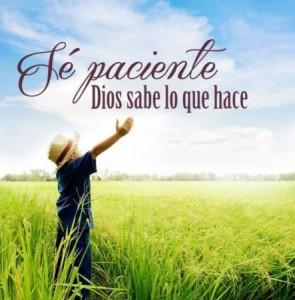 Se paciente y confia en Dios
