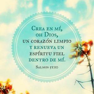 Crea en mi oh Dios un corazón limpio
