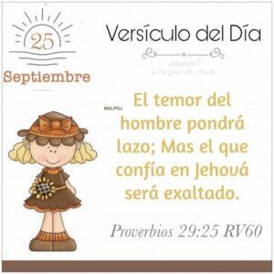 Imagen – Versículo del Día – Proverbios 29:25 RV60