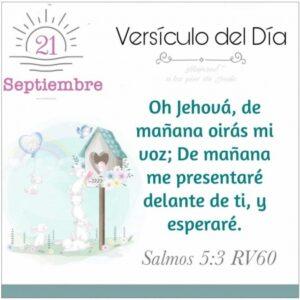 Imagen – Versículo del Día – Salmos 5:3 RV60