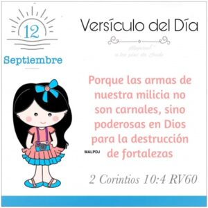 Imagen – Versículo del Día- 2 Corintios 10:4 RV60