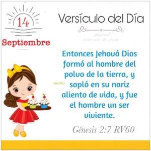 Imagen – Versículo del Día- Génesis 2:7 RV60