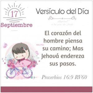 Imagen – Versículo del Día – Proverbios 16:9 RV60