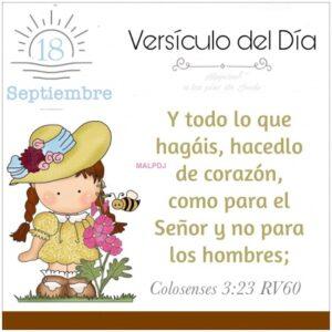 Imagen – Versículo del Día- Colosenses 3:23 RV60
