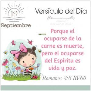 Imagen – Versículo del Día- Romanos 8:6 RV60