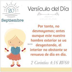 Imagen – Versículo del Día – 2 Corintios 4:16 RV60