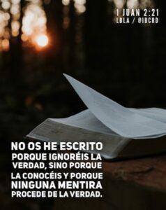 Imagen – 1 Juan 2:21 #LBLA @ibcrd