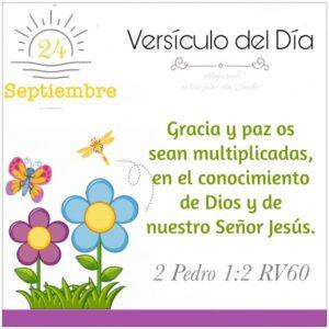 Imagen – Versículo del Día ~ 2 Pedro 1:2 RV60