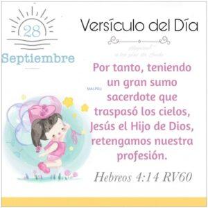 Imagen – Versículo del Día- Hebreos 4:14 RV60