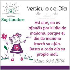 Imagen – Versículo del Día- Mateo 6:34 RV60