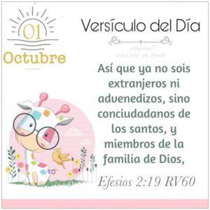 Imagen – Versículo del Día – Efesios 2:19 RV60