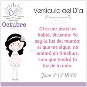 Imagen – Versículo del Día- Juan 8:12 RV60