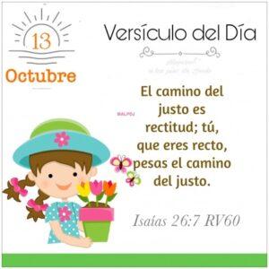 Imagen – Versículo del Día- Isaías 26:7 RV60