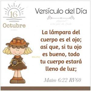 Imagen – Versículo del Día- Mateo 6:22 RV60