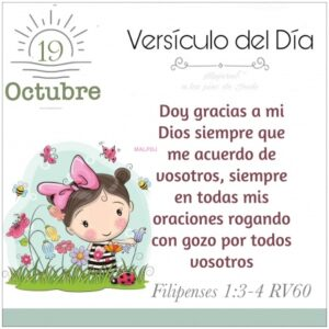 Imagen – Versículo del Día – Filipenses 1:3-4 RV60