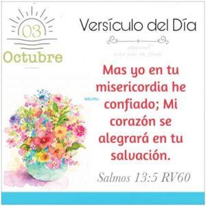 Imagen – Versículo del Día- Salmos 13:5 RV60